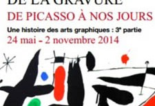"""Catálogo Exposición """"La permanence de la gravure: de Picasso à nos jours"""""""