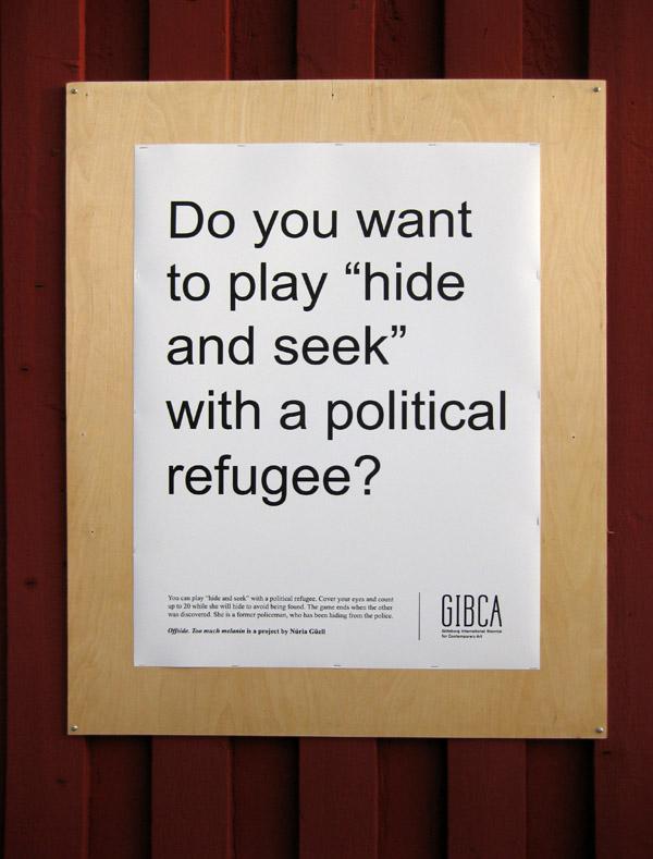 """Núria Güell, """"Too Much Melanin,"""" Biennial of Goteborg, Sweden, 2013."""