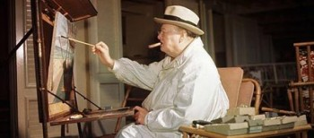 Winston Churchill y la pintura