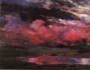"Emil Nolde ""Drifting Heavy Weather Clouds"" (1928)"