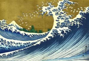 "Katsushika Hokusai, ""Le Fuji vu de la mer"" (1834)"