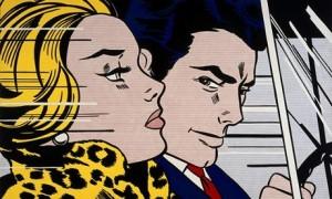 """Roy Lichtenstein- """"In the Car"""" (1963)  Photograph: Estate of Roy Lichtenstein"""