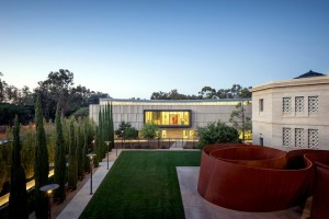 The new Anderson Collection  is part of a growing arts district on the Stanford University campus. At right, the Cantor Arts Center.