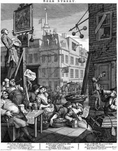 "William Hogarth, ""Beer Street"""