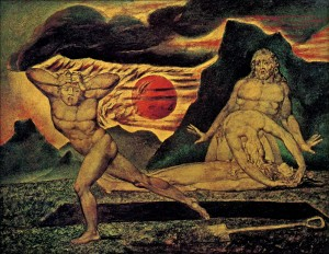 "William Blake, ""The Body of Abel Found by Adam and Eve"" (c. 1826)"