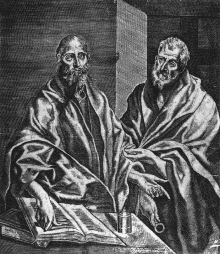 """El Greco y Diego de Ástor """"San Pablo y San Pedro"""", 1608"""