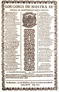 Goigs de Nostra Senyora de Montserrat Molt Devots