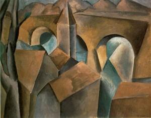 "Pablo Picasso, ""Paisaje con un puente"" (1909)"