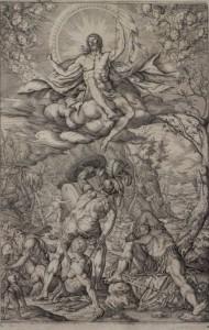 """""""Resurrección de Cristo"""", Melchior Meyer, buril, 1577"""