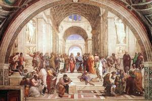 """""""La Escuela de Atenas"""" de Rafael, 1509"""