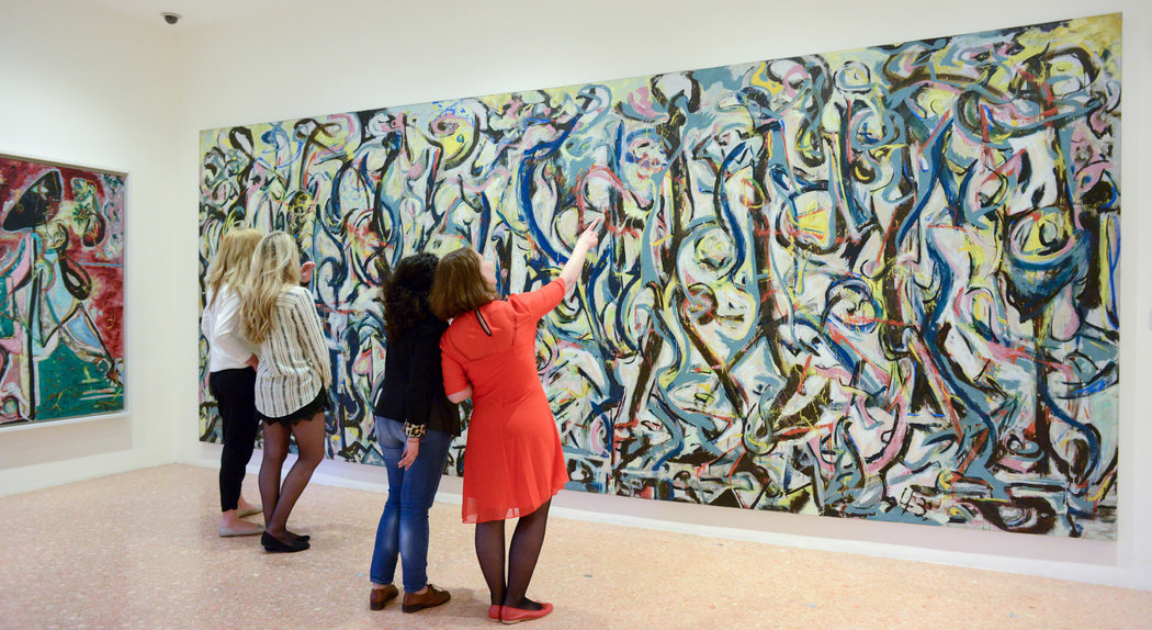 Pollock s rare trip to the venice biennale gelonch for Mural pollock