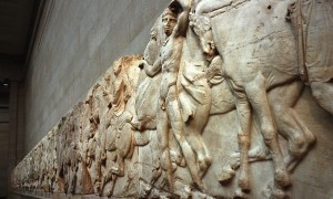 Frieze which forms part of the Parthenon marbles  at the British Museum. Photograph: Graham Barclay/Getty Images