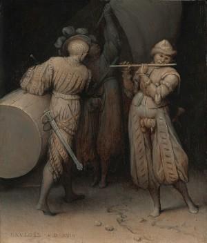 Brueghel and painted engravings