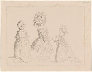 """""""Victòria el 1r de gener del 1844 vestida de Princesa Reial d'après West"""" (1844)"""