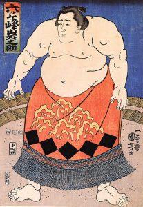 "Utagawa Kuniyoshi, ""El luchador de sumo"", c. 1840"