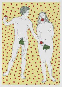 """Andi Arnovitz, """"Shut Her up"""", serigrafía, 2012"""
