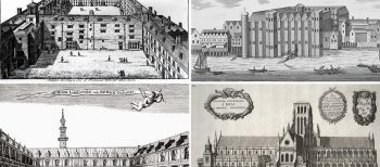 Prints and London buildings disappeared in the 1666 Great Fire