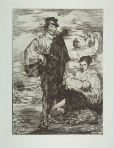 """Édouard Manet, """"Les Gitans"""", eau-forte et pointe sèche, 1862"""