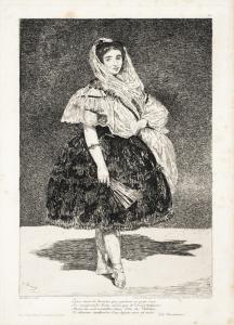 """Édouard Manet, """"Lola de Valence"""", eau-forte et aquatinte, 1863"""