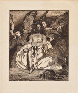 """Édouard Manet, """"Les Anges au Tombeau du Christ"""", eau-forte et aquatinte, 1866"""